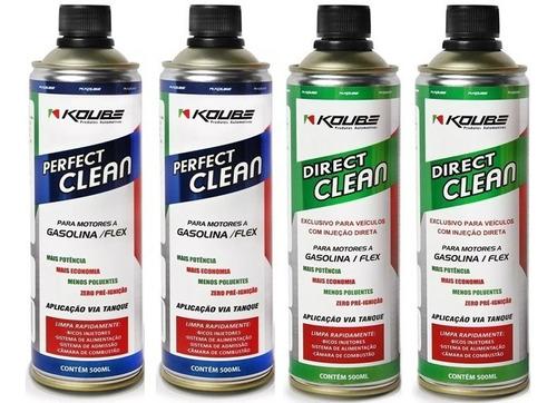 Kit 2 Perfect Clean Flex + 2 Direct Clean Injeção Dir Koube