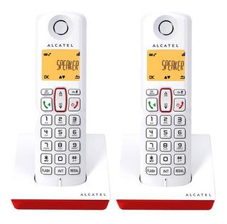 Teléfonos Inalámbricos S250 Duo Rojo Manos Libres Alcatel