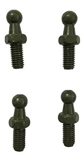 Qty 4 Studs De Bola 10mm M8 X 1.25 Rosca Para Soportes De