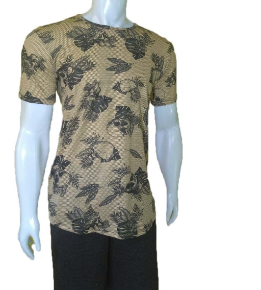 Camiseta Masculina Long Zahav Estampada Manga Curta