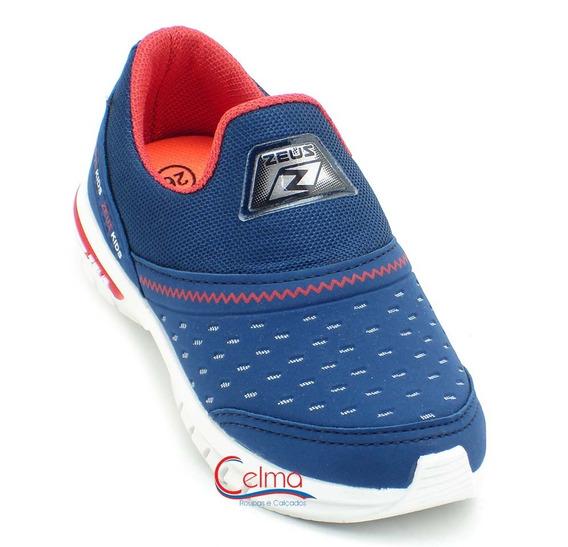 4x Tênis Infantil Masculino Feminino Escolar Zeus