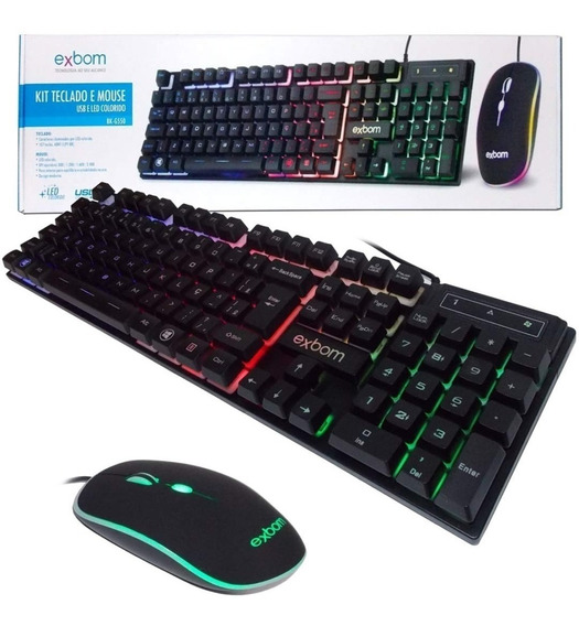 Kit Gamer Teclado Semi Mecanico Mouse Bk-g550 Abnt2 Usb K5