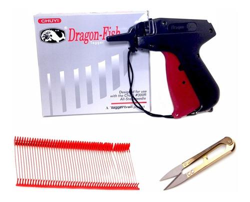 Pistola Etiquetadora + 1000 Precintos Rojo + Corta Hilo