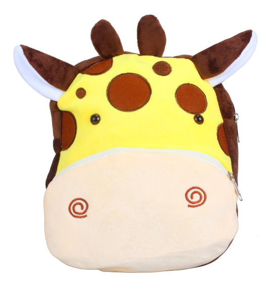 Mochila Ideal Jardin Divertidos Animalitos De Peluche 12 Pul
