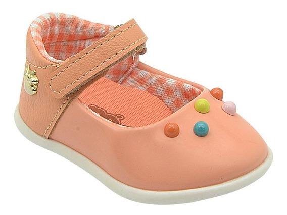 Sapato Infantil Feminino Menina Com Bolinhas Pé Com Pé