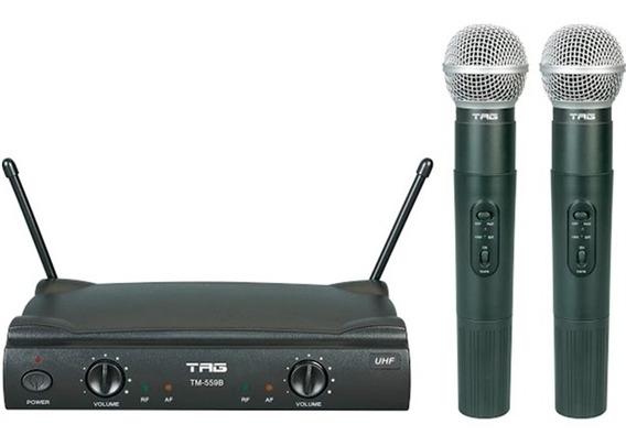 Microfone Duplo Sem Fio Tagima Sound Estojo Tm-559b Nagano