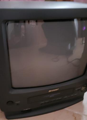 Televisão Sharp Importada - Com Vhs (videocassete)