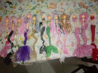 Muñecas Sirenas Artesanales Colgantes X Unidad