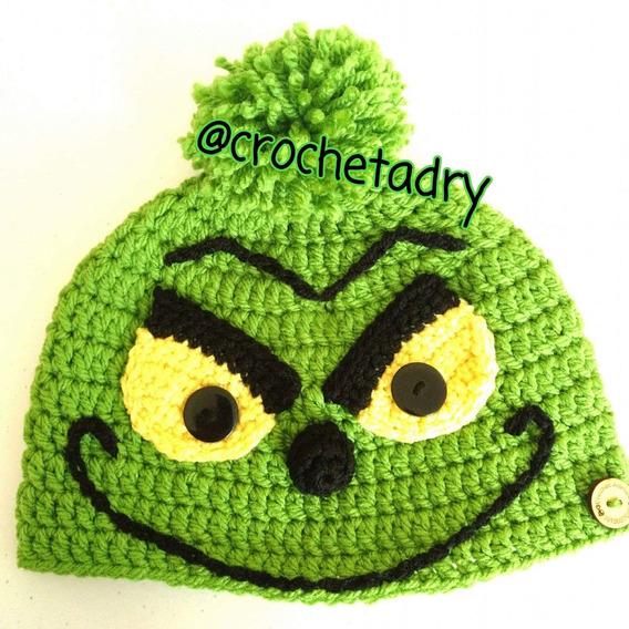 Gorro Grinch Crochet