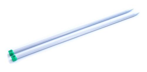 Imagen 1 de 1 de Par De Aguja Para Tejer Recta Tricot Nro. 10 Aluminio