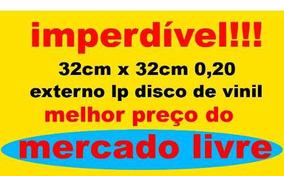 150 Plásticos Externos 0,20 Grosso P/ Capa Lp Disco De Vinil