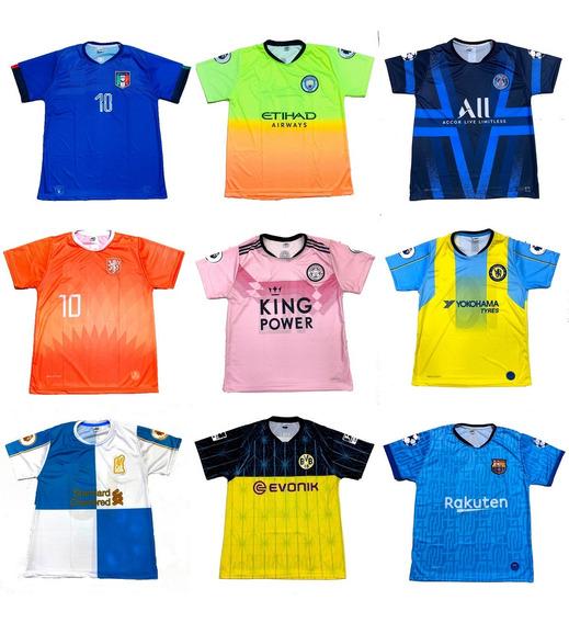 Pacote 12 Camisetas De Time Atacado Futebol Europeu 2020