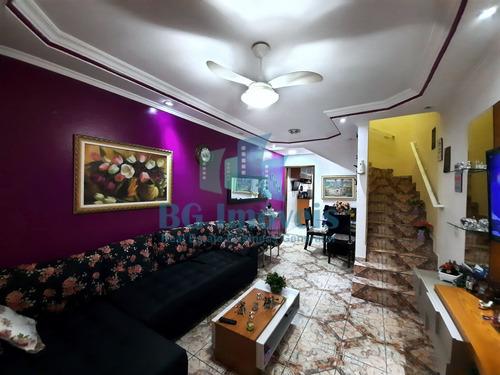 Imagem 1 de 30 de Sobrado À Venda Com 2 Dormitórios 2 Banheiros  1 Vaga Coberta Com 129m² Em Taipas-sp Zona Norte - Bg21-115