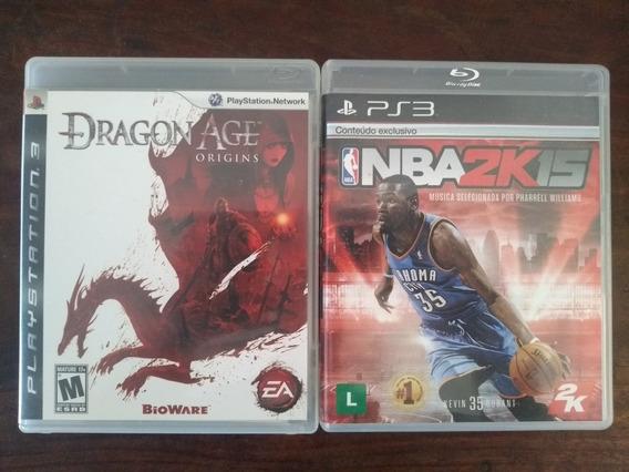 Dragon Age: Origins E Nba 2k15 | Ps3 | Mídia Física