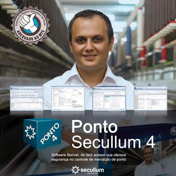 Software Ponto Secullum Ponto 4 Mensal P/ Contrato 12 Meses