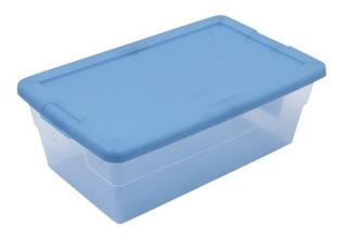 Caja/ Contenedor Multiusos 5.7l Azul 34.6x21x12.4 Cm