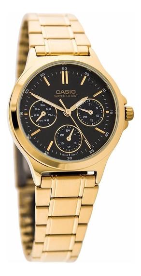 Reloj Casio Mujer Ltp-v300g-1a Envio Gratis