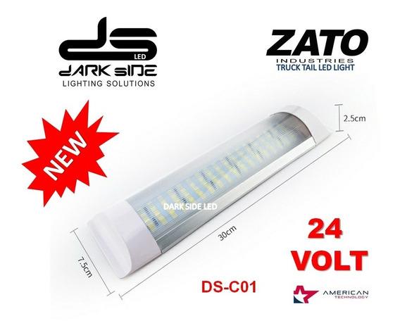 Plafon Led Motorhome Casa Rodante Largo 30cm Interruptor 24v