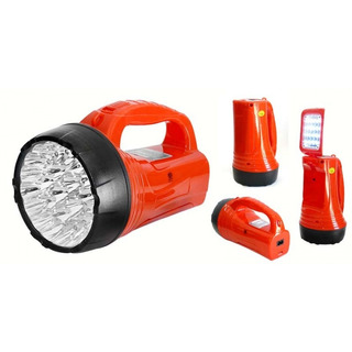 Lanterna / Holofote De Led Recarregável Albatroz 16 Leds