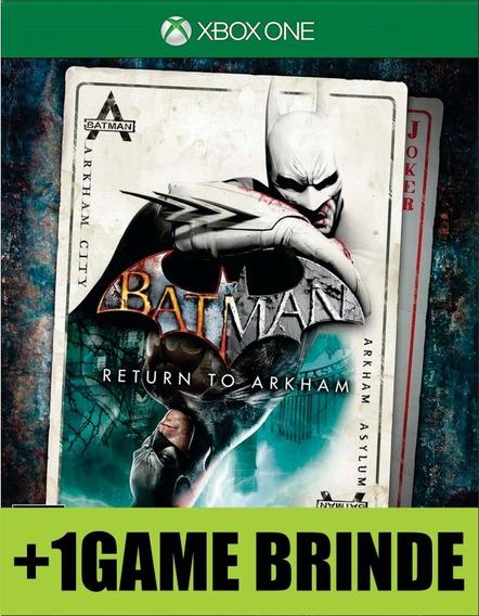Batman Return To Arkham Xbox One Mídia + Game Brinde