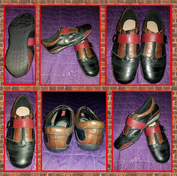 Zapatillas De 3 Colores De Cuero