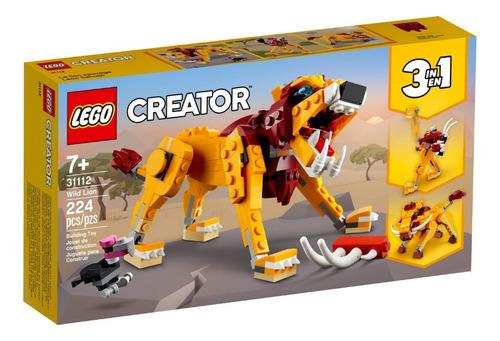 Lego Creator Leão Selvagem 3 Em 1 - 31112