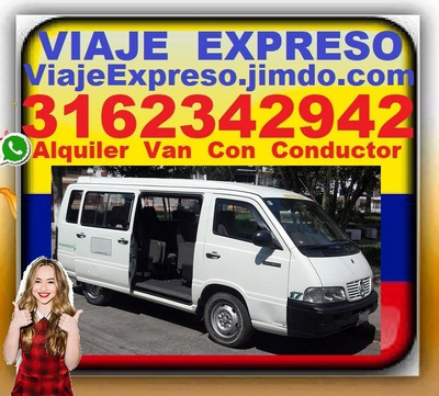 Alquiler Vans Con Conductor, Transporte 16 Pasajeros, Van