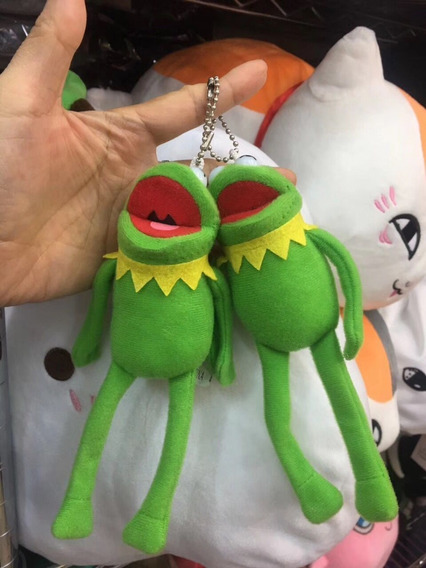 2x Chaveirão Caco O Sapo - Kermit Pelúcia Muppet Babies 16cm