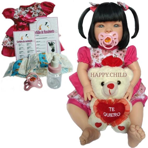 Boneca Bebe Menina Reborn Siliconada Promoção Barata Linda