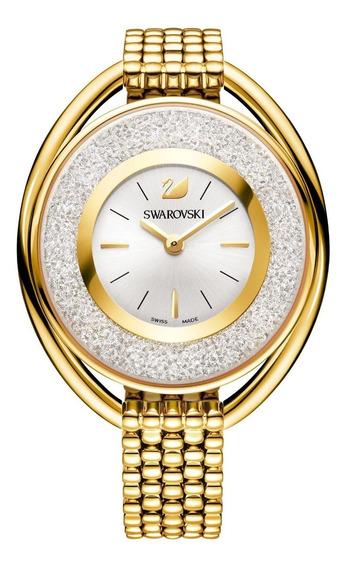 Swarovski Crystalline Oval Gold Tone Bracelet Watch 5200339