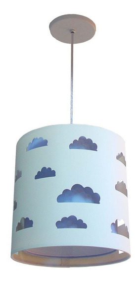 Luminária Pendente Nuvens 25x25 Duplo Quarto Infantil
