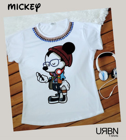 5070efedf3 Camiseta Feminina T-shirt Mickey Moderno 2019