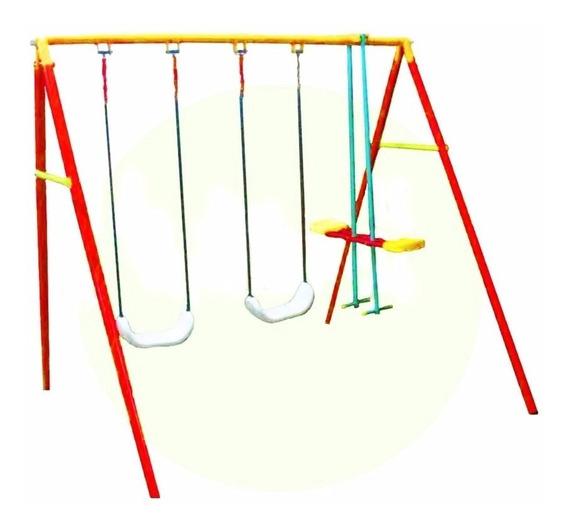 Portico Triple Completo Hamacas Tabla Reforzadas Y Caballito