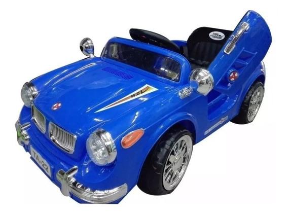 Auto A Bateria Bmw C/control Remoto Y Manual Azul