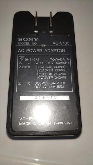 Carregador De Bateria Adaptador Sony Ac V100
