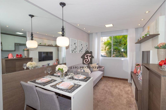 Apartamento Com 2 Dormitórios À Venda, 42 M² Por R$ 213.147 - Parque Industrial - Campinas/sp - Ap1264