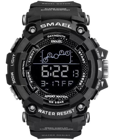Relógio Smael 1802 Digital Caixa Grande Prova D