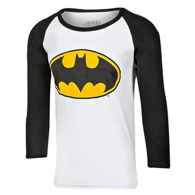 Playera Manga 3/4 Batman Caballero 2018