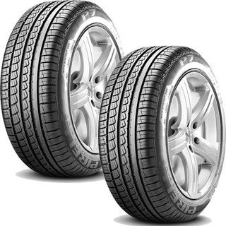 Paquete 2 Llantas 205/55r16 Pirelli P7 91v Llantitec