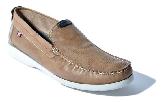 Zapato Náutico Hombre De Cuero Zurich Art: 2254 Liviano