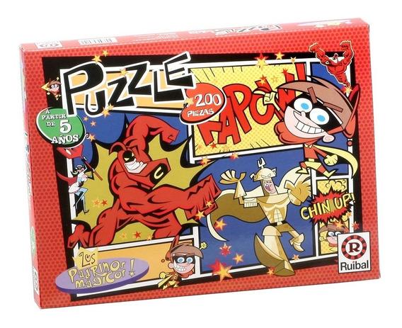 Juego Puzzle Los Padrinos Mágicos Ruibal X 200 Pz (+ 5 Años)