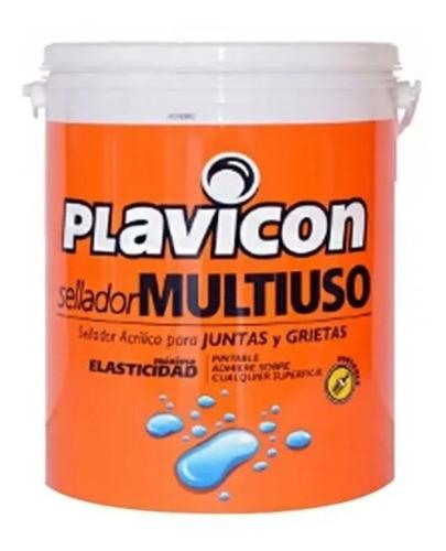 Sellador Acrílico Multiuso Plavicon Grietas Fisuras 5 Kg Mm