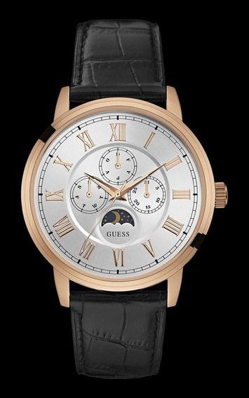Relógio Guess Masculino Couro Calendario Lunar 92617gpgdrc2