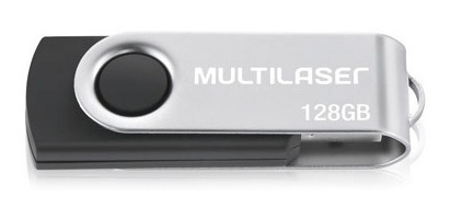 Pendrive 128gb Multilaser Pd591 Preto