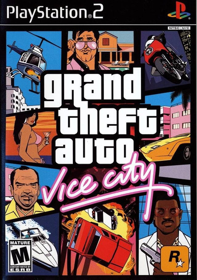Jogo Mídia Física Grand Theft Auto Gta Vice City Para Ps2