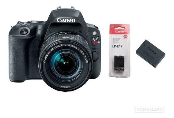 Câmera Canon Rebel Sl2 C/ Lente 18-55mm + Bateria Lp-e 17