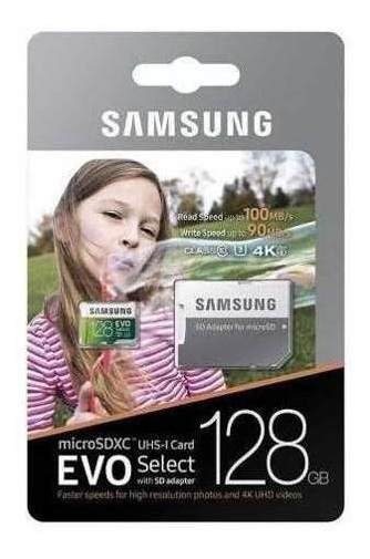 Original Samsung Microsd Card 128gb Evo Select U3 100mb/s 4k