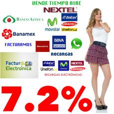 Recargas Electrónicas 7.2% Comisión, Multimarca