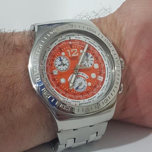 Relogio Swatch Swiss Todo Original Cronografo  Barato Tudook