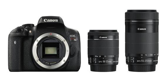 Câmera Canon Kiss Eos X8i Lente Dupla Ef-s 18-55mm/55-250mm